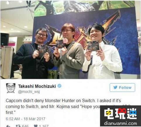 任天堂Switch新情报将迎来第三方大作《怪物猎人》 任天堂 第1张