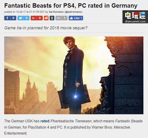 《神奇动物在哪里》曝同名游戏?或将于明年发售 电玩资讯 第2张