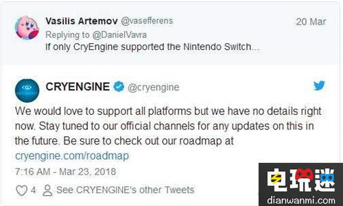 有希望!CryEngine未来或提供对任天堂Switch的支持? 任天堂 第2张