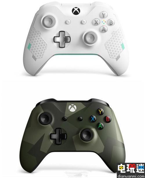 """微软发布全新主题手柄""""女武神""""和""""丛林武力""""  将于8月14日发售  微软XBOX"""