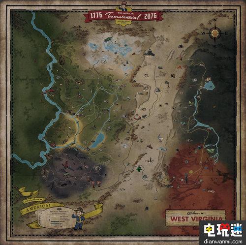 Gamespot公开了《辐射 76》游戏地图 电玩迷资讯