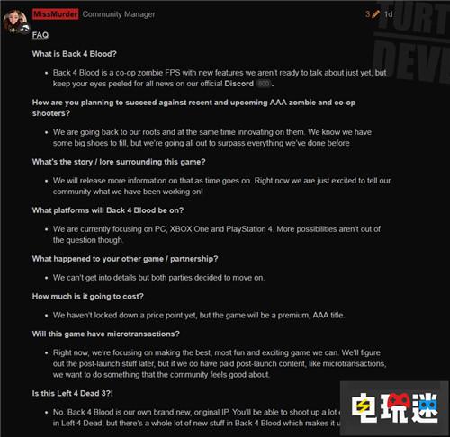《求生之路》开发商公布多人合作僵尸FPS新作《Back 4 Blood》 STEAM 第4张
