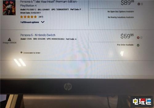零售商又立功提前泄露Switch《女神异闻录5S》 任天堂SWITCH 第1张