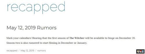 《巫师》改变电视剧或将于年末开播 VR及其它 第2张