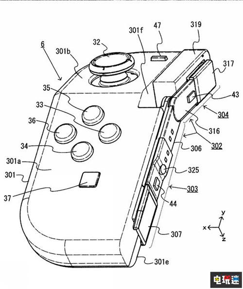任天堂推出Joy-Con新专利 手柄可折叠 任天堂SWITCH 第1张