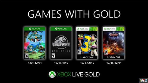 XboxOne 12月会免阵容:侏罗纪世界:进化在列 疯狂机器人 玩具总动员3 侏罗纪世界:进化 恶魔城:命运之境 12月会免 XboxOne 微软XBOX  第1张