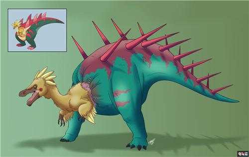 玩家绘制写实风《宝可梦:剑盾》化石宝可梦 鳃鱼龙好吓人 任天堂SWITCH 第4张