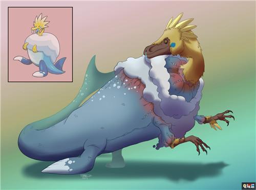 玩家绘制写实风《宝可梦:剑盾》化石宝可梦 鳃鱼龙好吓人 任天堂SWITCH 第6张