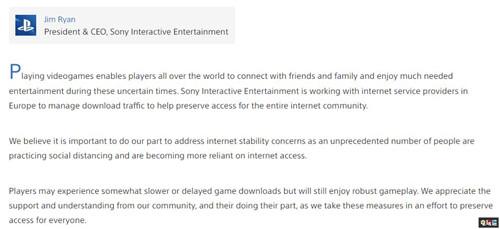 索尼下调PSN欧洲地区下载速度 保证欧洲网络稳定 索尼PS 第2张