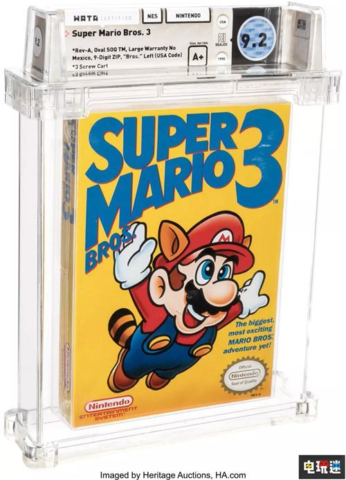 《超级马里奥兄弟3》初版原装卡带拍出15.6万高价 破纪录 任天堂 NES 超级马里奥兄弟3 任天堂SWITCH  第1张