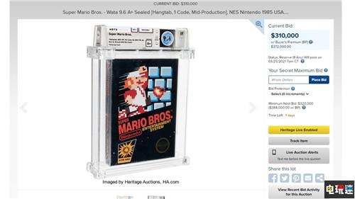 NES《超级马里奥兄弟》卡带31万美元起拍 或将打破收藏纪录 游戏收藏 超级玛丽 NES 超级马里奥兄弟 任天堂SWITCH  第1张